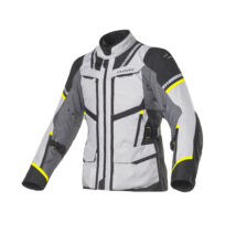 CLOVER Savana-3 motoros kabát, szürke-sárga
