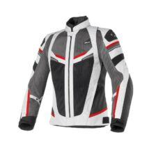 CLOVER Rainjet WP nyári motoros dzseki szürke-piros