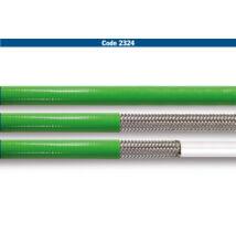 Allegri fémhálós fékcső (1/8) zöld burkolattal (FÉ 2324)