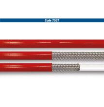 Allegri fémhálós fékcső (1/8) piros burkolattal (FÉ 7537)