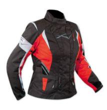 Motoros kabát, A-PRO Traveller Lady, piros