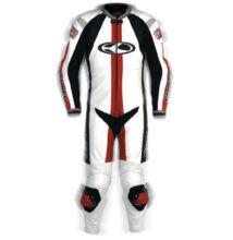CLOVER Q-3 egyrészes bőrruha (fehér)