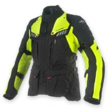 Textil motoros kabát, CLOVER Crossover-3 WP Airbag, sárga-fekete