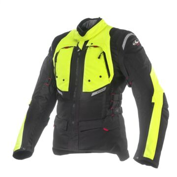 Textil motoros kabát, CLOVER GTS-3 WP Airbag, sárga-fekete