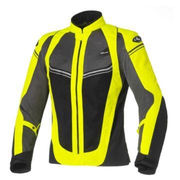Nyári motoros dzseki, CLOVER Airjet-4 Lady, sárga-fekete