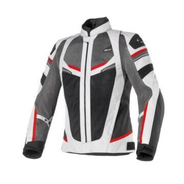 Nyári motoros dzseki, CLOVER Rainjet WP, szürke-piros