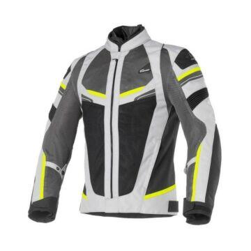 Nyári motoros dzseki, CLOVER Rainjet WP, szürke-sárga
