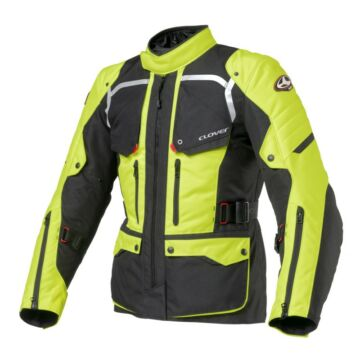 Motoros kabát, CLOVER Savana-2 WP, fekete-sárga