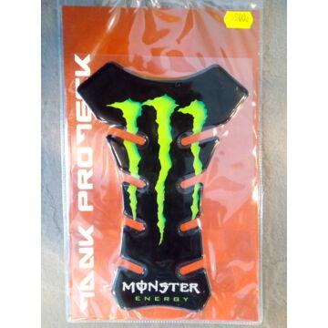 Tankpad 3D sport, Monster, fekete