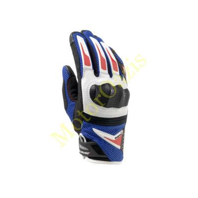 CLOVER Raptor Plus nyári motoros kesztyű fehér-kék