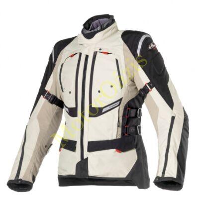 Textil motoros kabát, CLOVER GTS-3 WP Airbag, homok-fekete