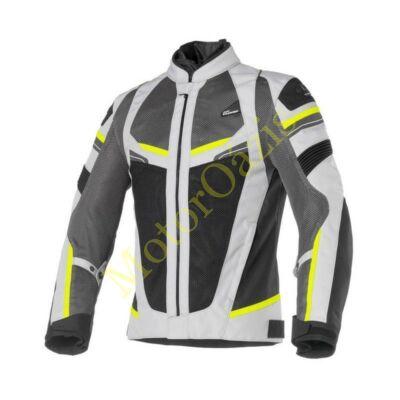 CLOVER Rainjet WP nyári motoros dzseki szürke-sárga