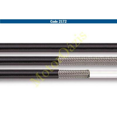Allegri fémhálós fékcső (1/8) fekete burkolattal (FÉ 2172)