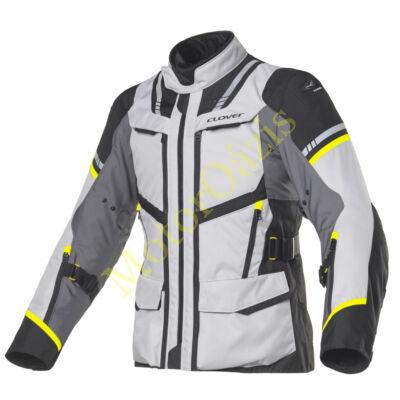 CLOVER motoros kabát, Savana-3 szürke-sárga