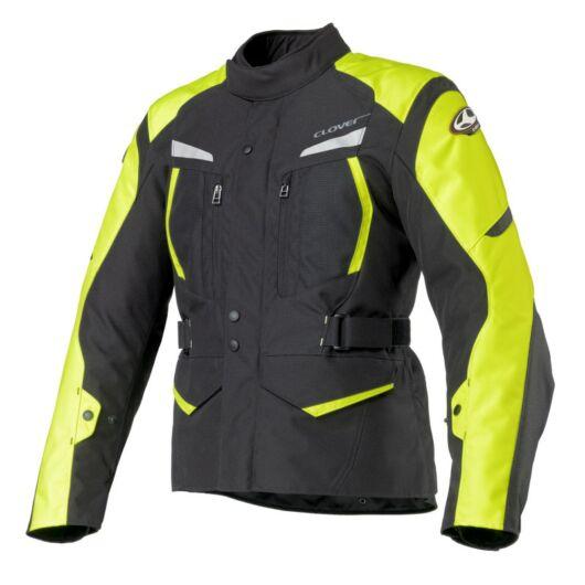 Motoros kabát, CLOVER Storm-2 WP, fekete-sárga