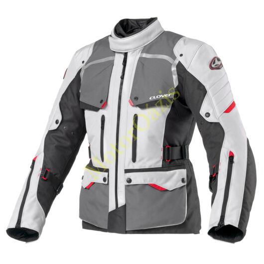 Motoros kabát, CLOVER Savana-2 WP, szürke-fekete