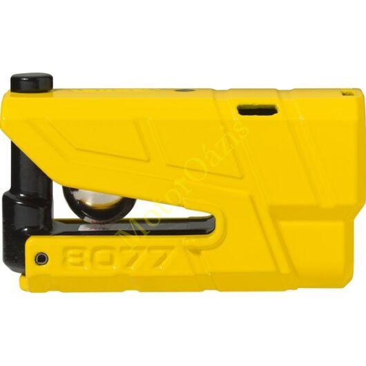 Riasztós féktárcsazár, ABUS 8077 Detecto X Plus, sárga