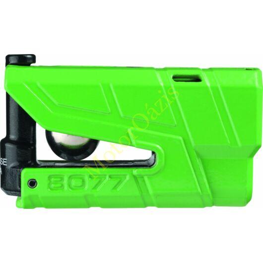 Riasztós féktárcsazár, ABUS 8077 Detecto X Plus, zöld