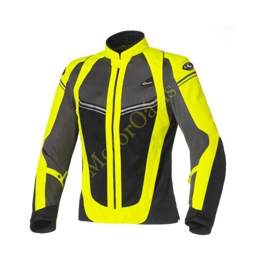 Nyári motoros dzseki, CLOVER Airjet-4, sárga-fekete