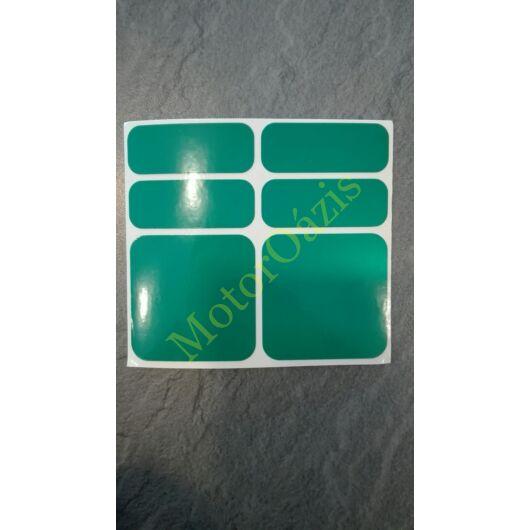 Matrica FÉNYVISSZAVERŐ Zöld