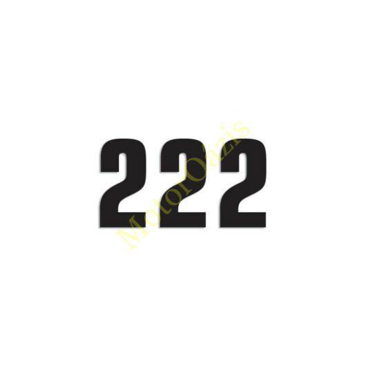 Matrica szett rajtszám 2-es