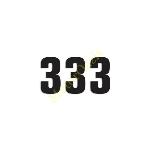 Matrica szett rajtszám 3-as