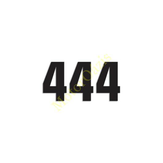 Matrica szett rajtszám 4-es