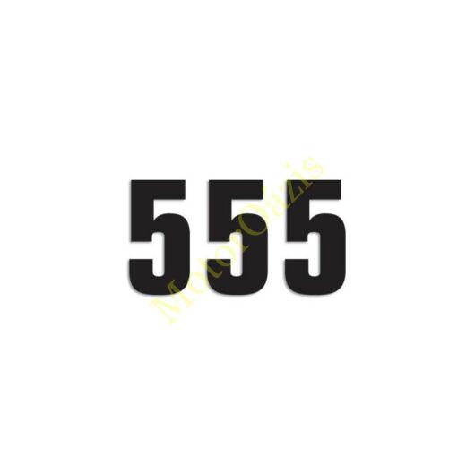 Matrica szett rajtszám 5-ös