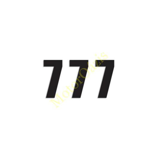 Matrica szett rajtszám 7-es