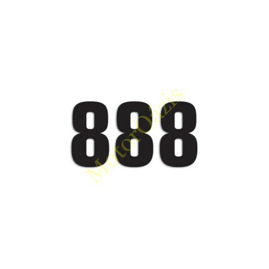 Matrica szett rajtszám 8-as
