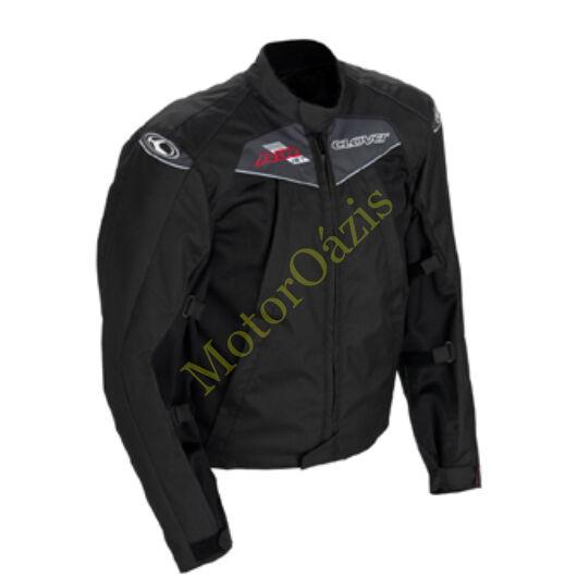 Nyári motoros dzseki, CLOVER AirJet, fekete